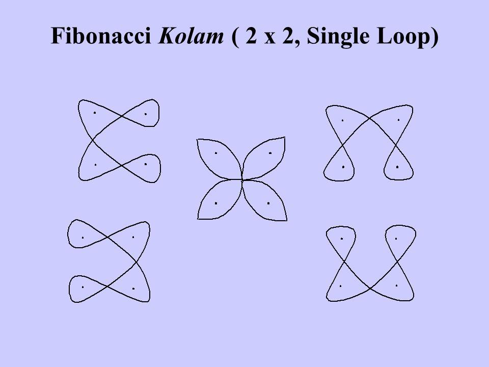 Fibonacci Kolam ( 2 x 2, Single Loop)