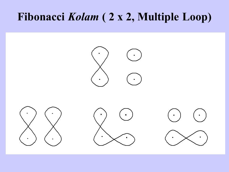 Fibonacci Kolam ( 2 x 2, Multiple Loop)