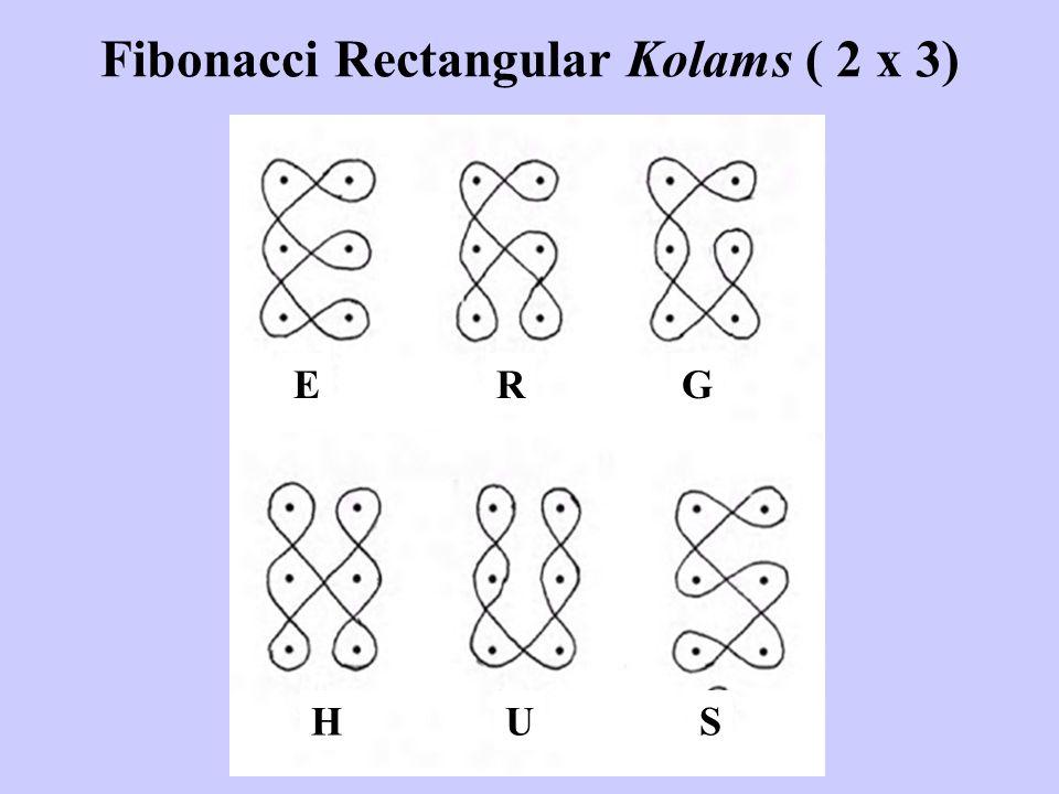 Fibonacci Rectangular Kolams ( 2 x 3) ERG HUS