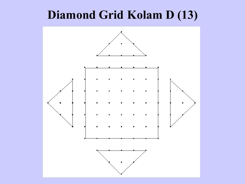 Diamond Grid Kolam D (13)