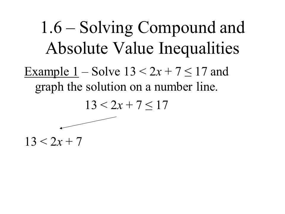 Example 4 – Solve |3x – 12| ≥ 6 and graph the solution on a number line.