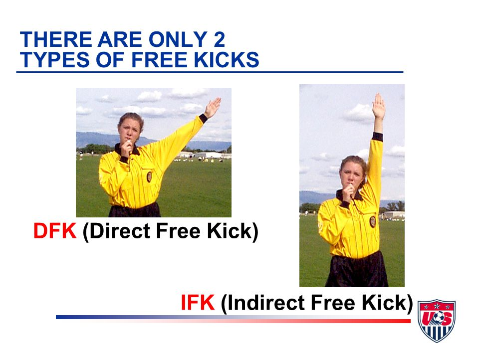 DEFINITION OF A FREE KICK The way play is restarted after the referee has stopped play for an infraction