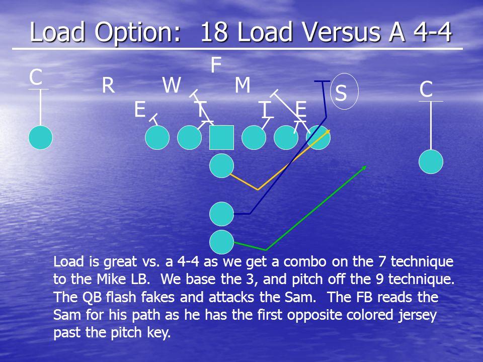 Load Option: 18 Load Versus A 4-4 ETET S MWR C C F Load is great vs.