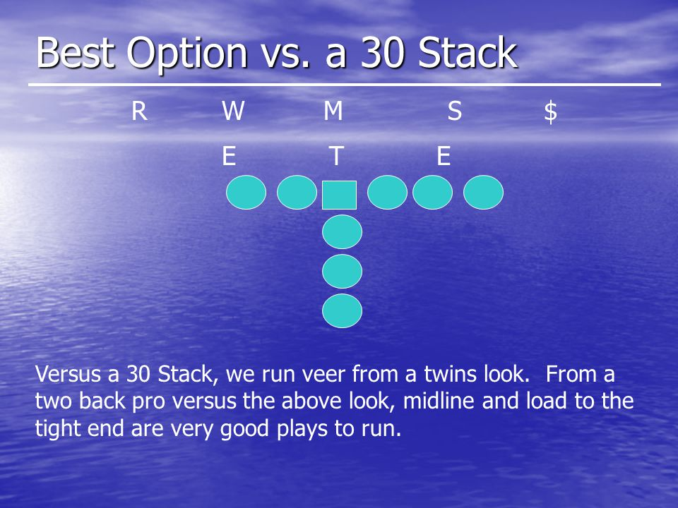 Best Option vs.a 30 Stack T WMS EE $R Versus a 30 Stack, we run veer from a twins look.