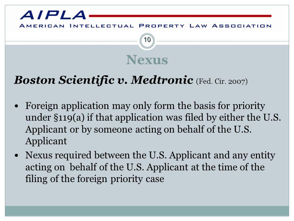Nexus Boston Scientific v.Medtronic (Fed. Cir.