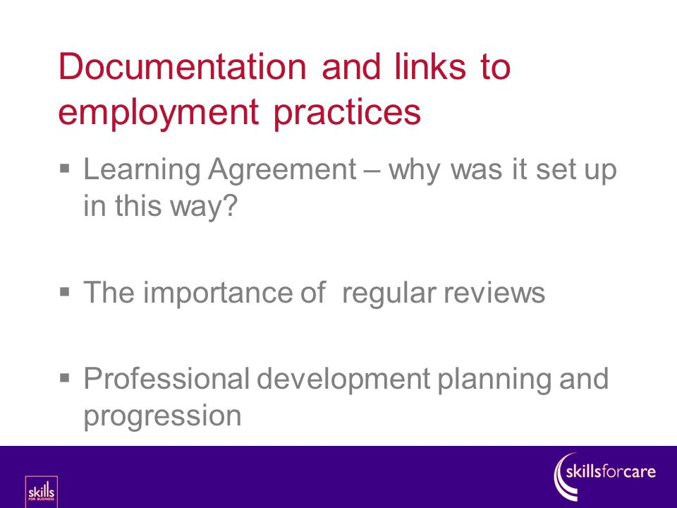  Learning Agreement – why was it set up in this way.