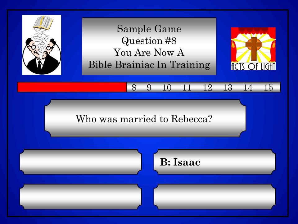 Who was married to Rebecca.