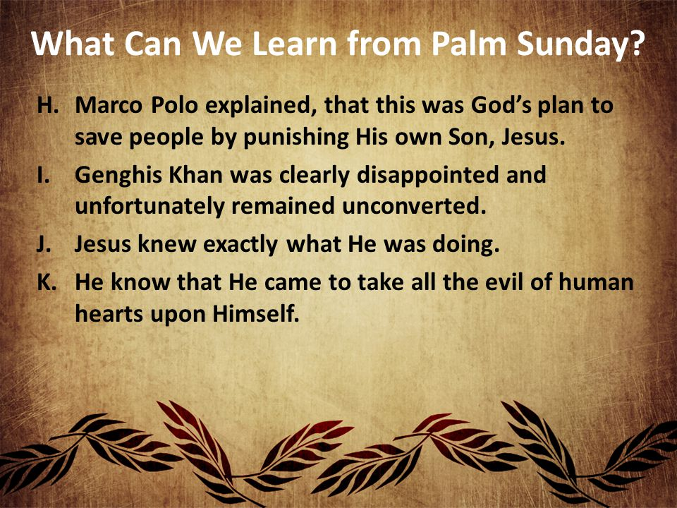 What Can We Learn from Palm Sunday.