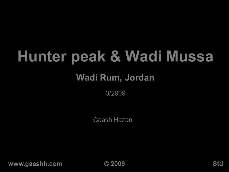 Hunter peak & Wadi Mussa Wadi Rum, Jordan 3/2009 Gaash Hazan www.gaashh.comStd© 2009