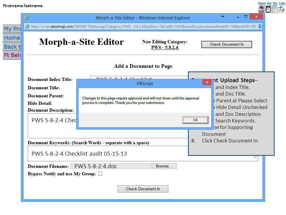 Firstname.lastname Document Upload Steps– 1.Enter and Index Title.