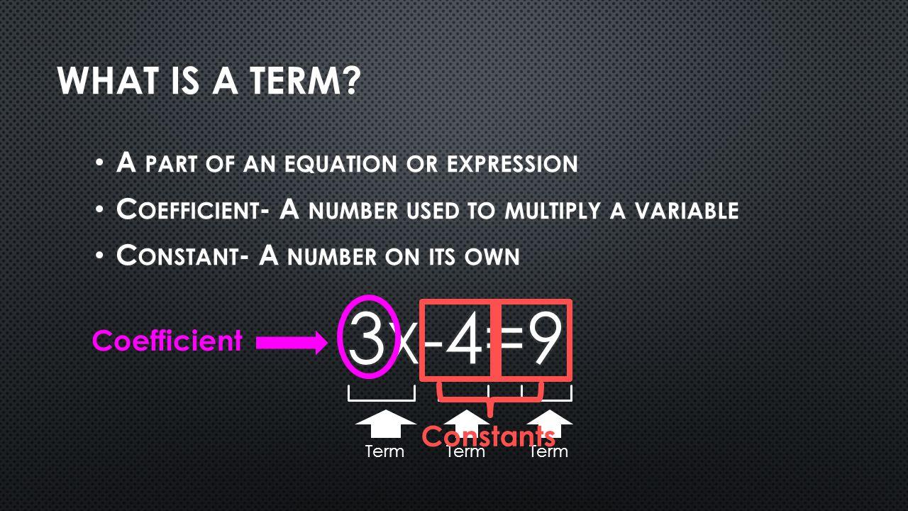 Term Coefficient Constants