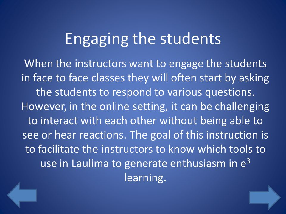 yes no Submit Pre-Assessment - Part 2 Can chat rooms be used by students to socialize or work on class material.