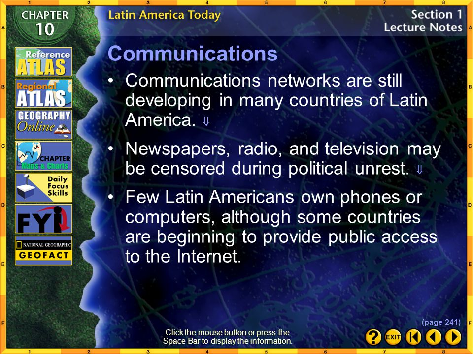 Section 1-21 How has the geography of Latin America affected its transportation systems.