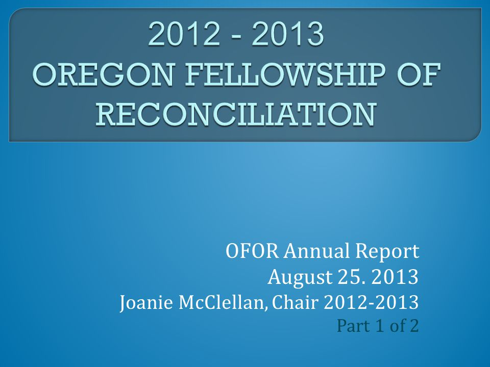 JOANIE –OFOR CHAIR 2012-13 FUN WITH NEW BOARD MEMBERS 