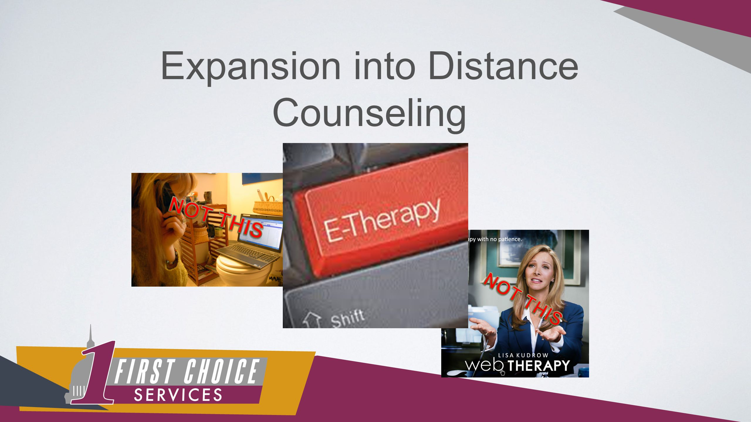 Expansion into Distance Counseling