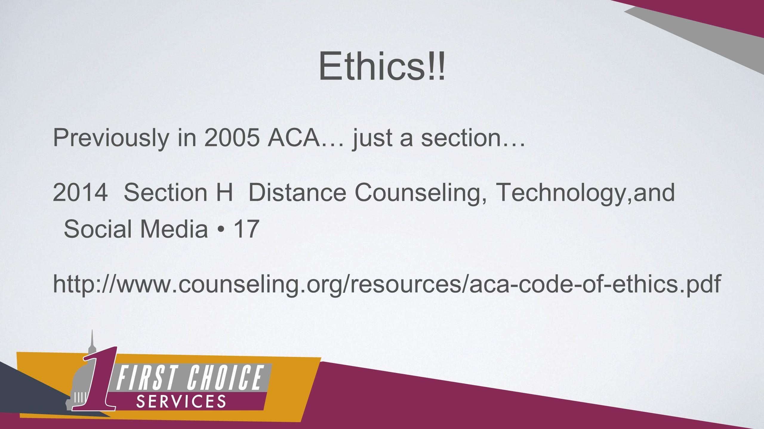 Ethics!.
