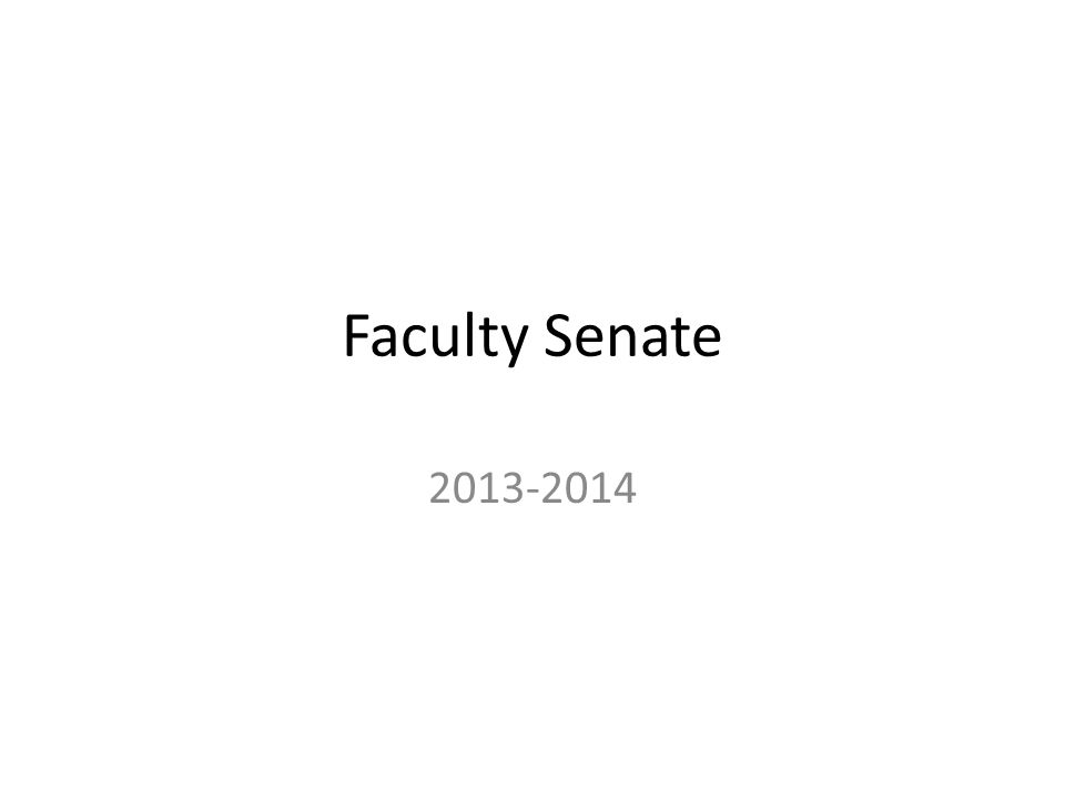 Faculty Senate 2013-2014