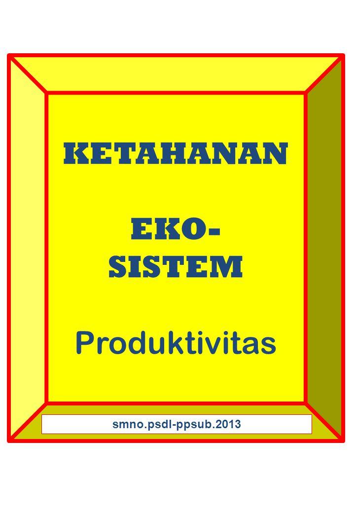 KETAHANAN EKO- SISTEM Produktivitas smno.psdl-ppsub.2013