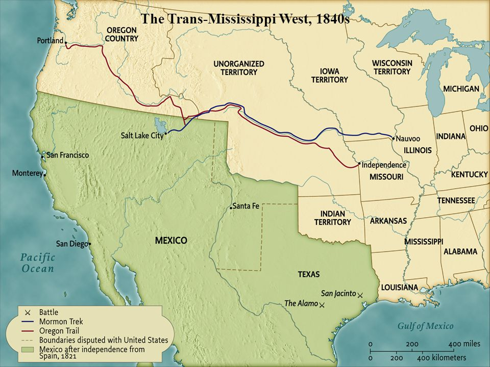 The Trans-Mississippi West, 1840s pg. 461 The Trans-Mississippi West, 1840s