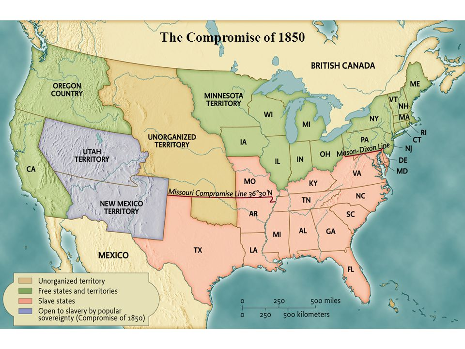 The Compromise of 1850 pg. 475 The Compromise of 1850