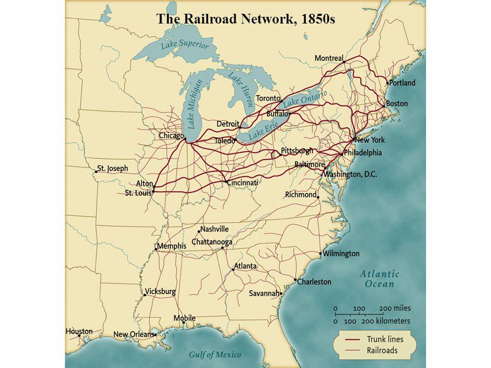 The Railroad Network, 1850s pg. 478 The Railroad Network, 1850s