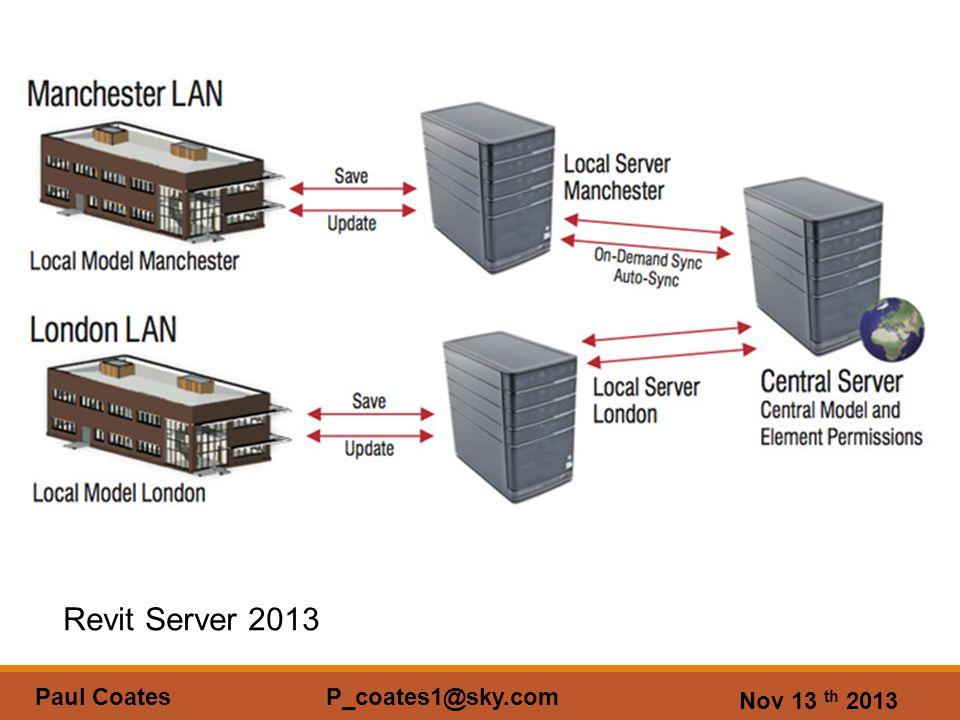 Nov 13 th 2013 Paul Coates P_coates1@sky.com Revit Server 2013