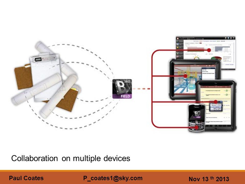 Nov 13 th 2013 Paul Coates P_coates1@sky.com Collaboration on multiple devices