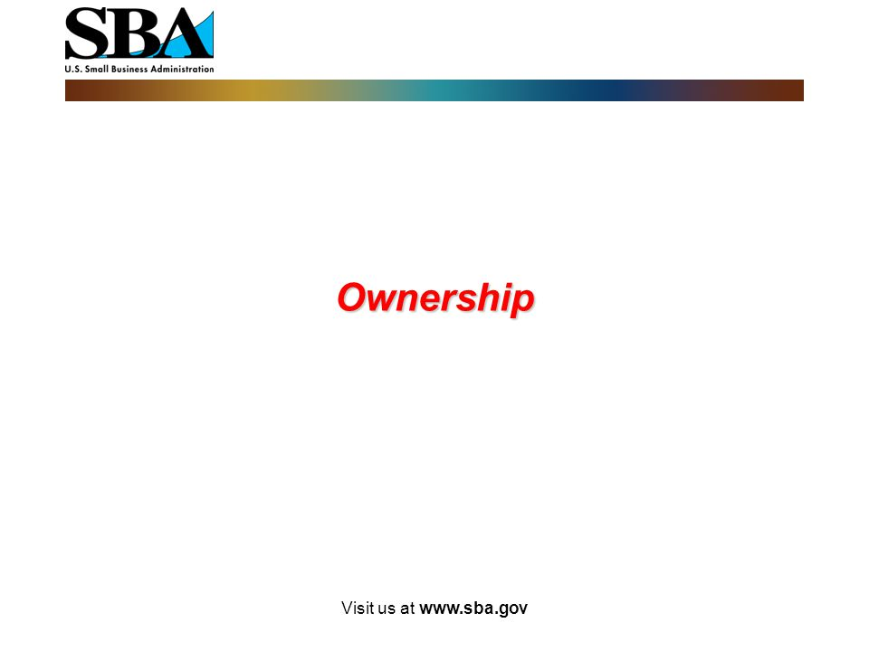 Personal Income (cont'd) SBA will examine the individual income tax returns for the prior three (3) years. Applicant's must provide: Three most recent