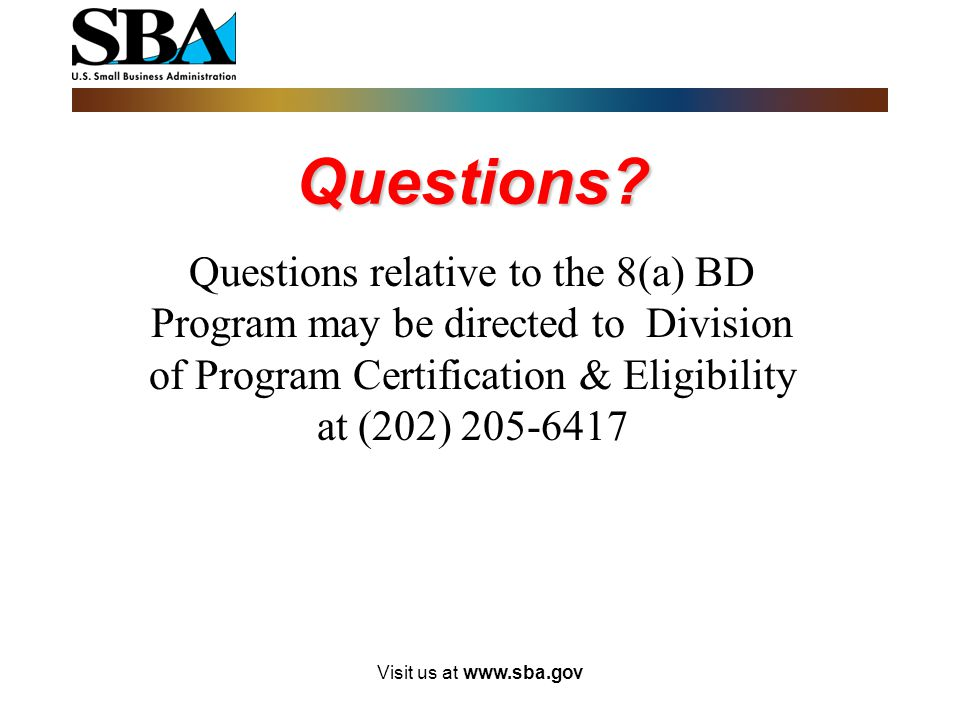 Community Development Corporation(CDC) 13 CFR § 124.111(f)- concerns must possess potential for success, as demonstrated by: 124.111(f)(1)- having bee