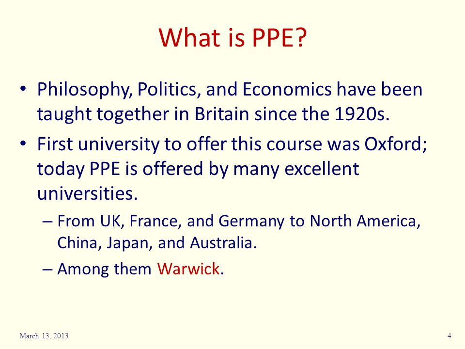 What is PPE.