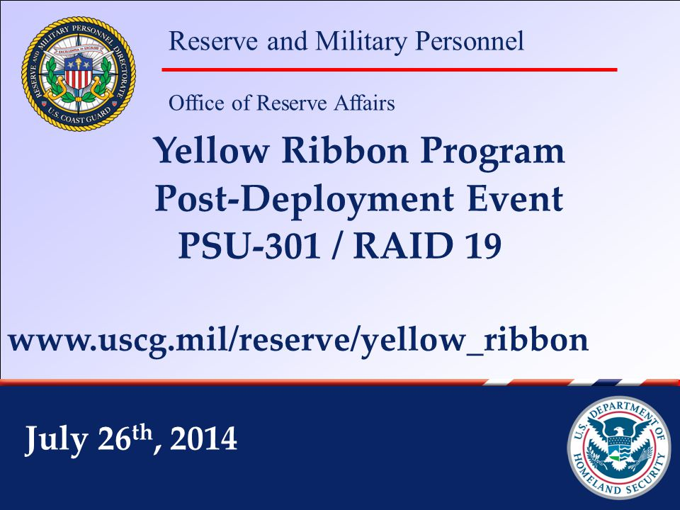 Reserve and Military Personnel Office of Reserve Affairs