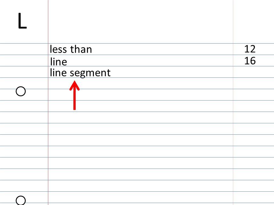 line segment 16 line 12 less than L