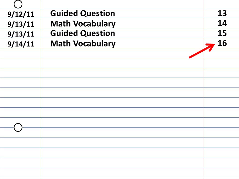 On the top blue line write Guided Question
