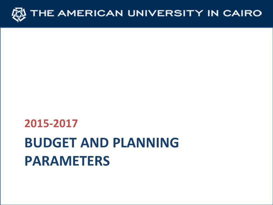 BUDGET AND PLANNING PARAMETERS 2015-2017