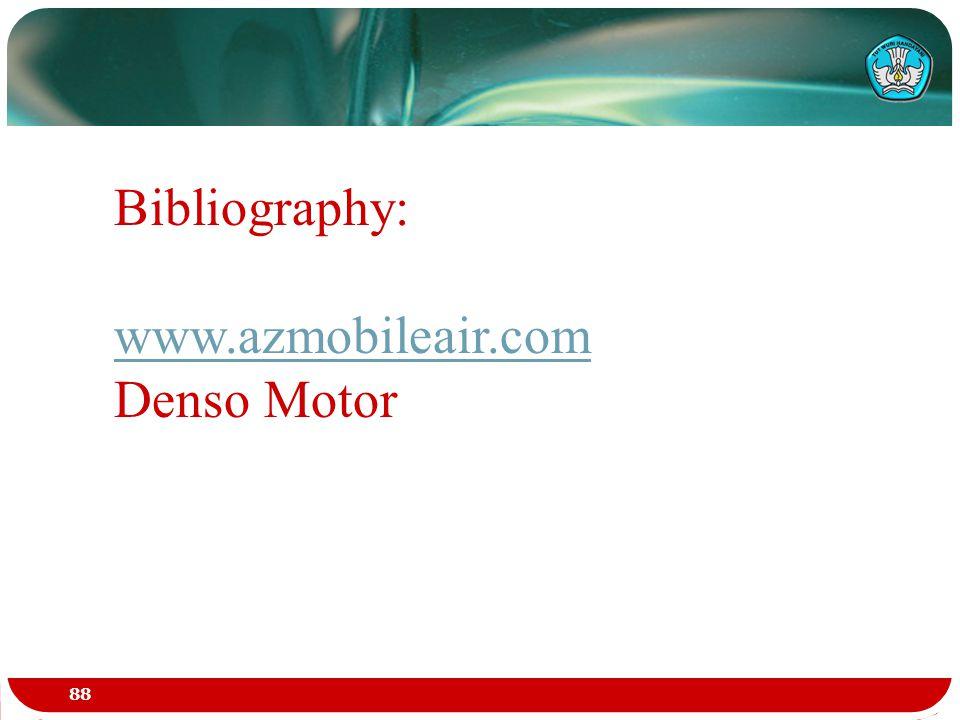 Bibliography: www.azmobileair.com Denso Motor 88