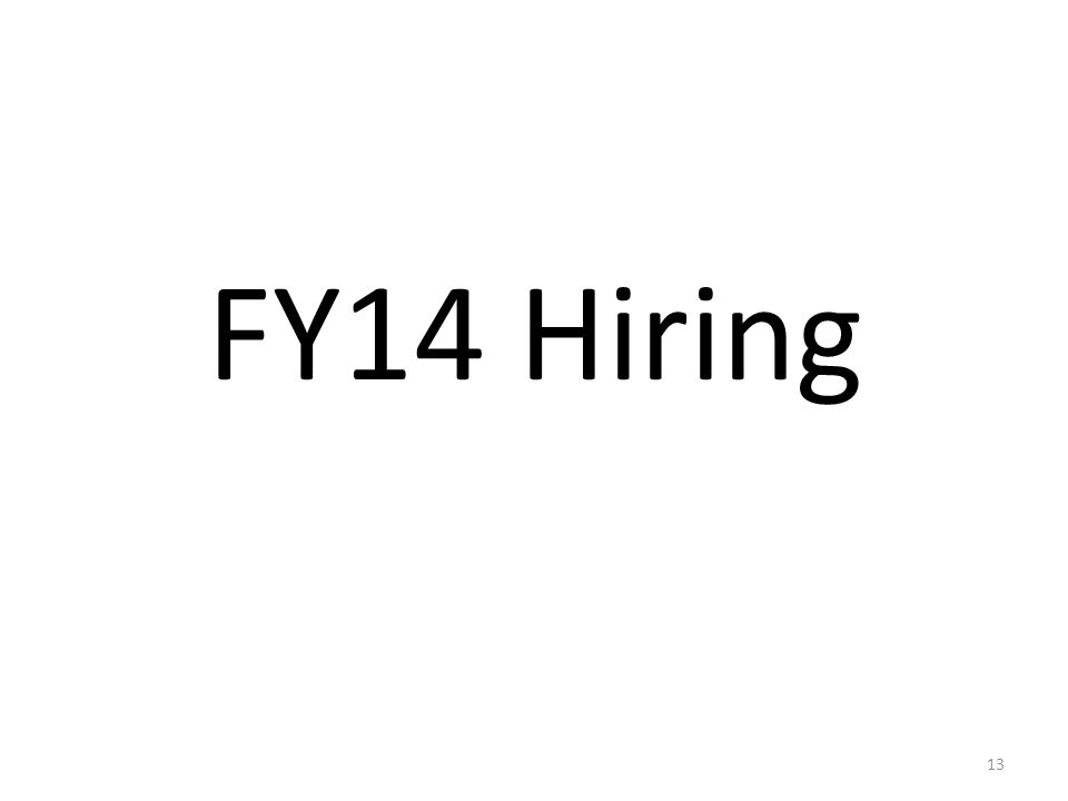 FY14 Hiring 13
