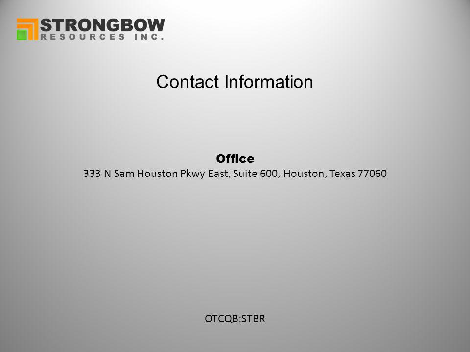Contact Information Office 333 N Sam Houston Pkwy East, Suite 600, Houston, Texas 77060 OTCQB:STBR