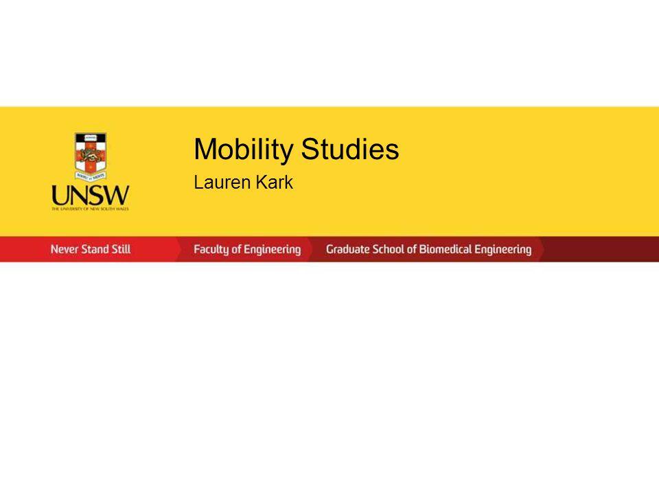 Mobility Studies Lauren Kark