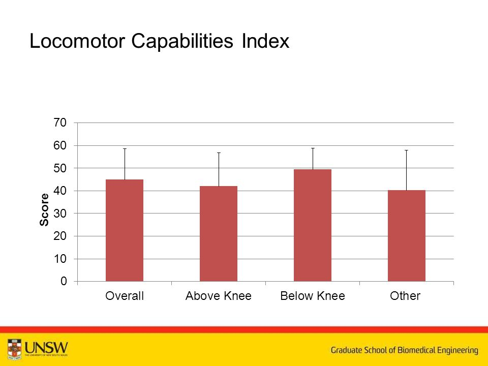 Locomotor Capabilities Index