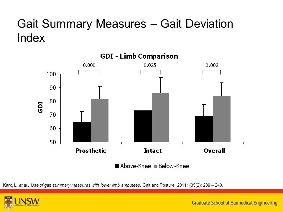 Gait Summary Measures – Gait Deviation Index Kark, L.