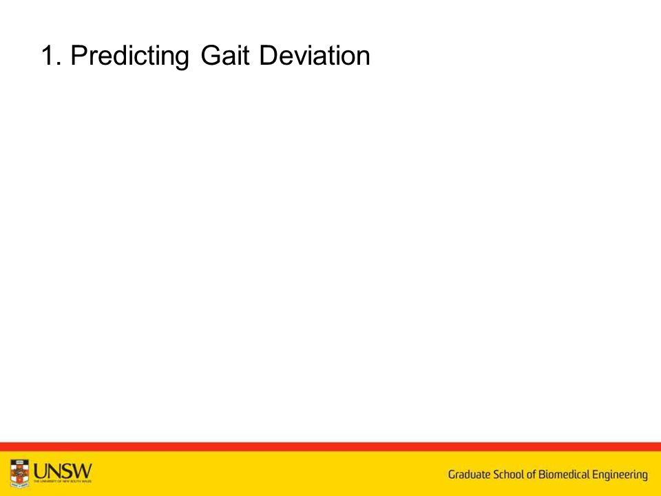 1. Predicting Gait Deviation