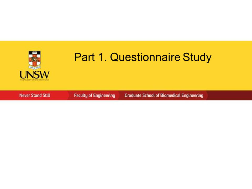 Part 1. Questionnaire Study