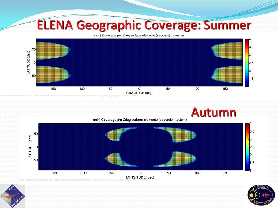 ELENA Geographic Coverage: Summer Autumn