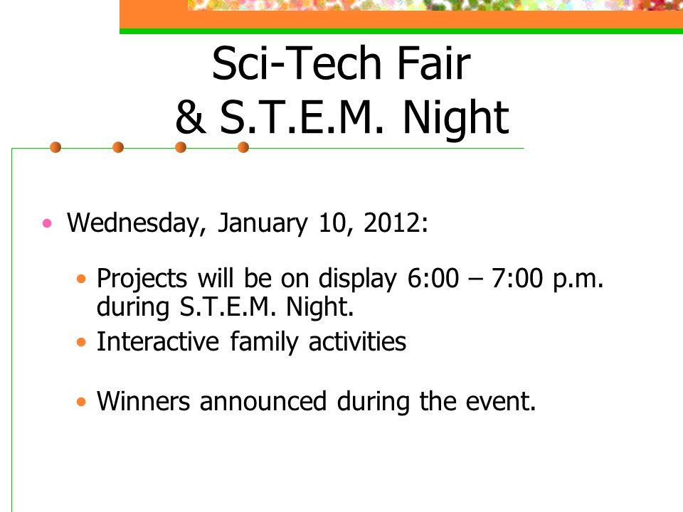 Sci-Tech Fair & S.T.E.M.