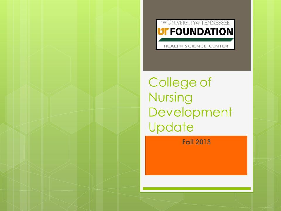 College of Nursing Development Update Fall 2013