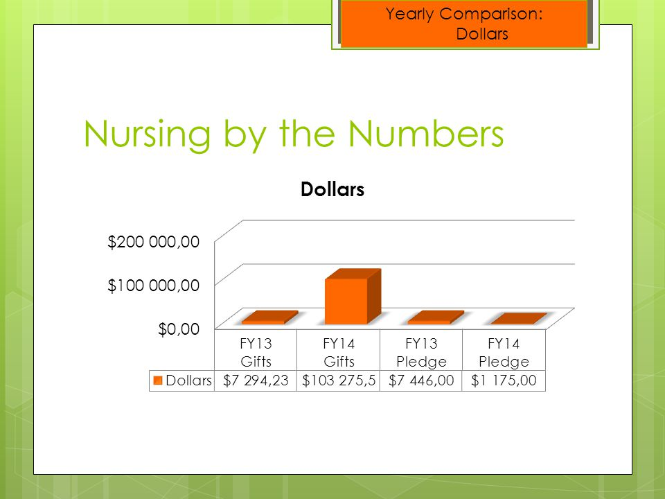 Nursing by the Numbers Yearly Comparison: Donors