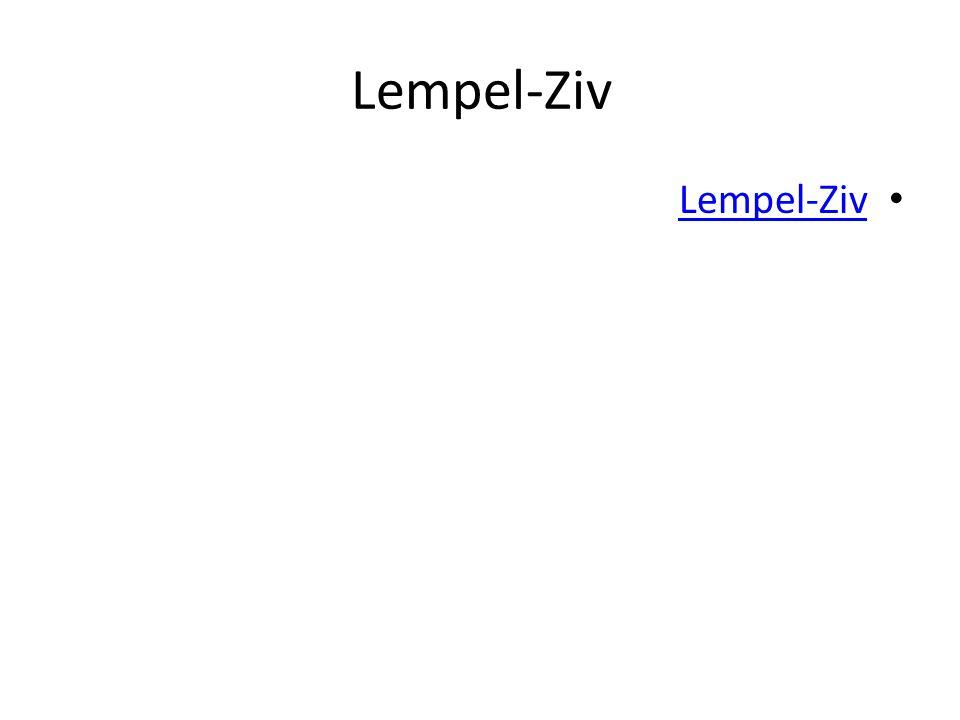 Lempel-Ziv