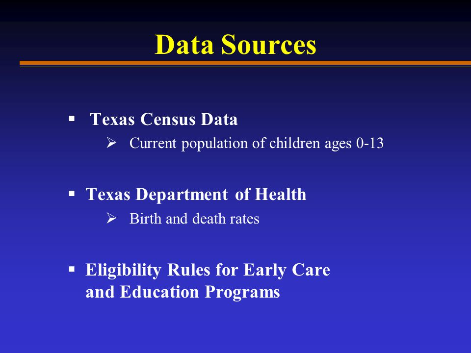 Future Projections of Texas Children Age Race/Ethnicity Geographic Areas