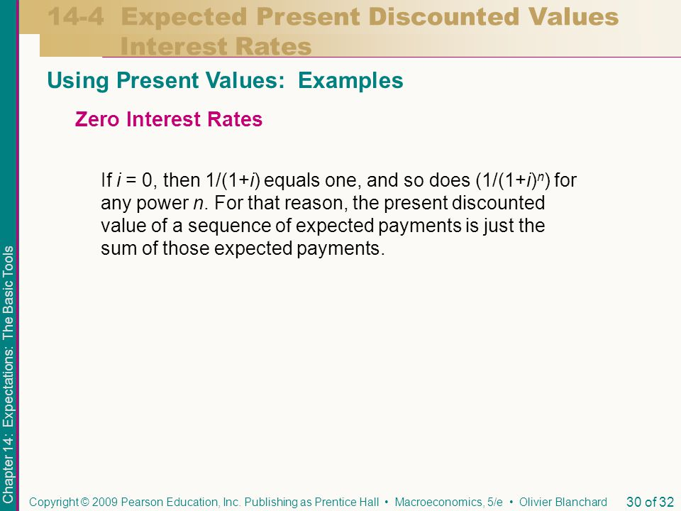 Chapter 14: Expectations: The Basic Tools Copyright © 2009 Pearson Education, Inc.