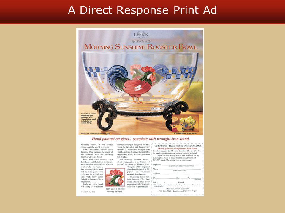 A Direct Response Print Ad